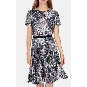 NWOT KAREN MILLEN Marble Print Pleat Dress
